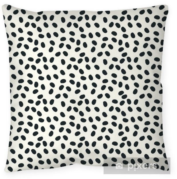 black and white dots vector seamless repeapt background Pillow Cover - Graphic Resources
