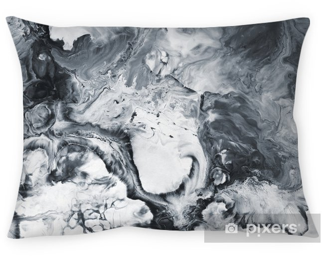 Black and white marble abstract hand painted background Pillow Cover - Graphic Resources