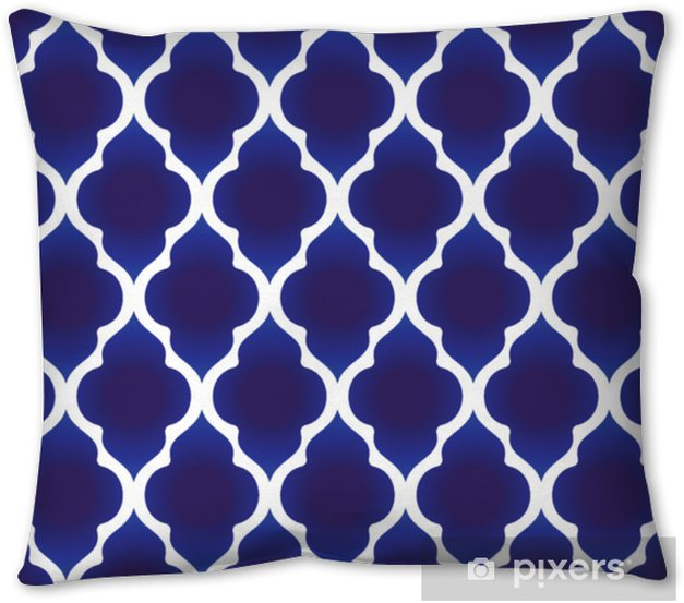 blue and white Islamic pattern Pillow Cover - Graphic Resources
