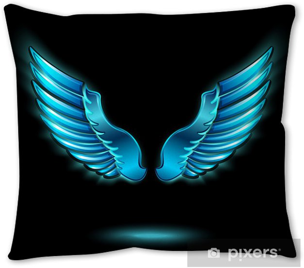 Blue Glowing Angel Wings Pillow Cover Pixers We Live To Change