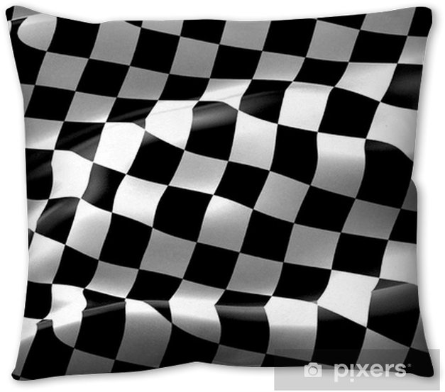 Checkered Flag End Race Background Pillow Cover Pixers We Live To Change
