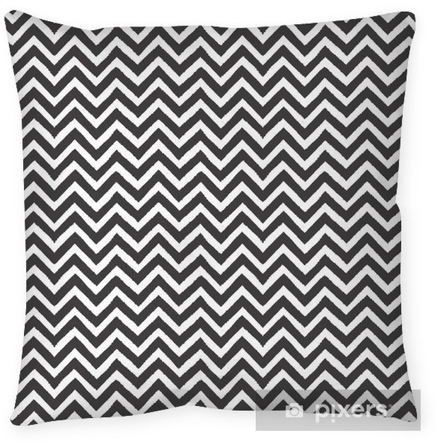 Geometric chevron seamless pattern Pillow Cover - Landscapes