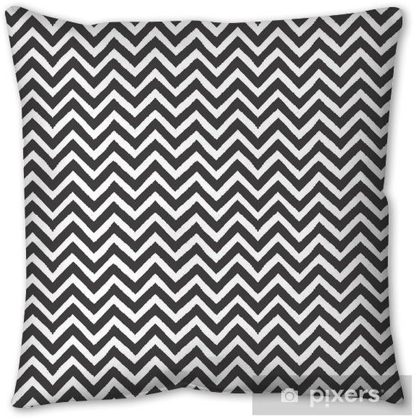 Geometric chevron seamless pattern Pillow Cover - Landscapes