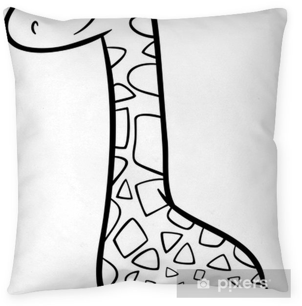 Giraffe Cartoon Coloring Page Pillow Cover Pixers We Live To Change