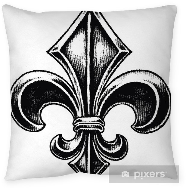Gothic Fleur De Lis Pillow Cover Fashion