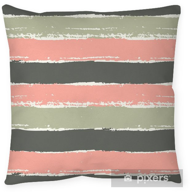 Hand Drawn Striped Seamless Pattern Pillow Cover - Graphic Resources