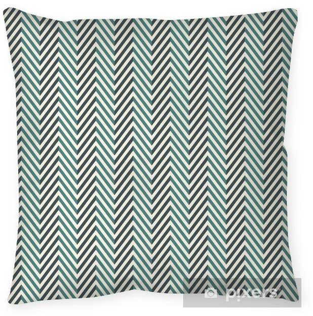 Herringbone abstract background. Blue colors seamless pattern with chevron diagonal lines. Pillow Cover - Graphic Resources
