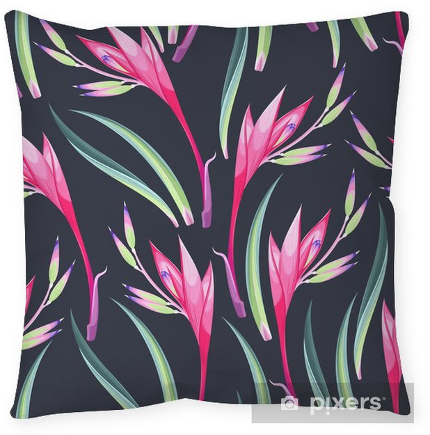Jungle flowers seamless Pillow Cover - Graphic Resources