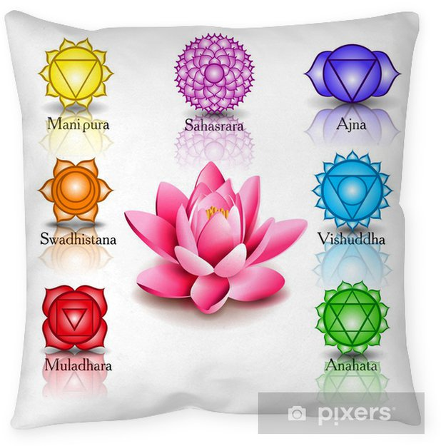 Lotus And Seven Chakras Pillow Cover Pixers We Live To Change