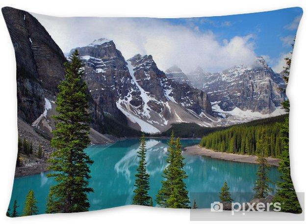 Moraine Lake In Banff National Park Alberta Canada Pillow Cover