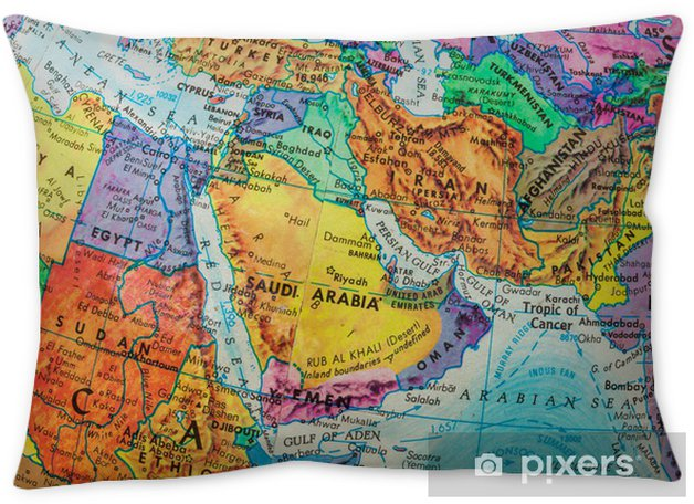 Old Globe Map of The Middle East Countries Pillow Cover on globe map world, globe map italy, globe map austria, globe map philippines, globe map india, globe map norway, globe map asia, globe map europe, globe map states, globe map art, globe map africa, globe map finland,