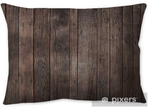 Old vintage dark brown wooden planks background Pillow Cover - Graphic Resources