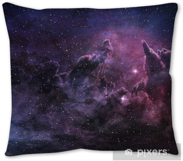Purple Nebula And Cosmic Dust In Star Field Pillow Cover Pixers We Live To Change
