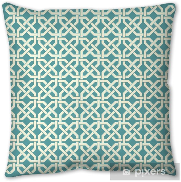 Retro geometric seamless pattern Pillow Cover - Backgrounds