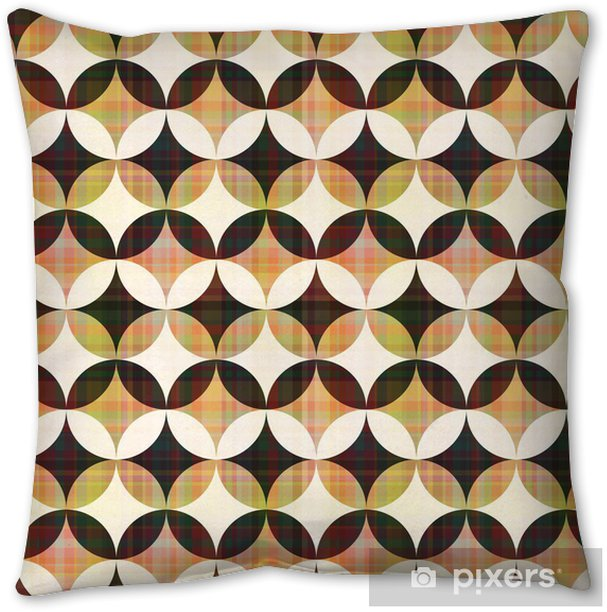 seamless abstract geometric circle pattern Pillow Cover - Backgrounds