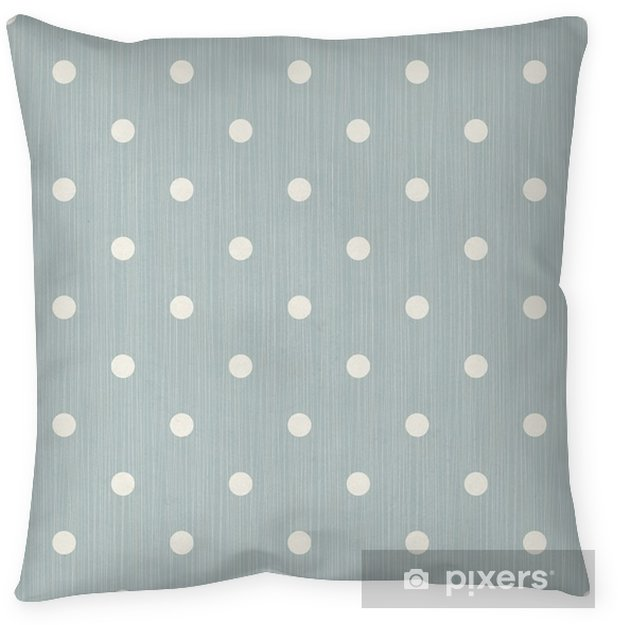 Seamless background with lines and polka dots Pillow Cover - Graphic Resources