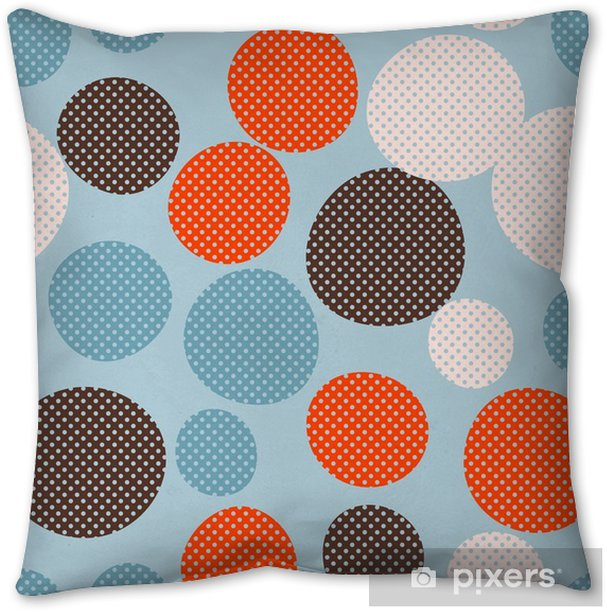 Seamless dots pattern Pillow Cover - Graphic Resources