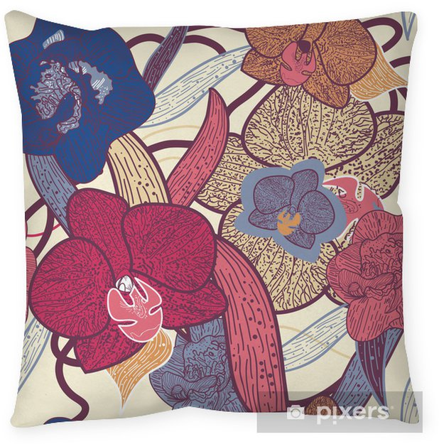Seamless floral texture Pillow Cover - Backgrounds
