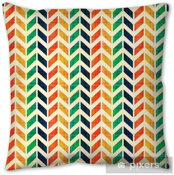 seamless geometric herringbone pattern Pillow Cover - Backgrounds