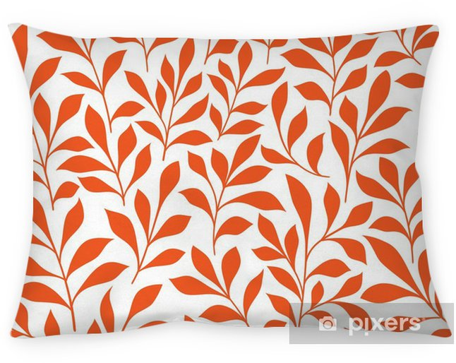 Seamless orange wild herbs pattern Pillow Cover - Graphic Resources