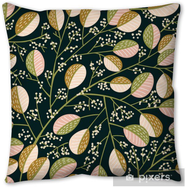 Seamless Spring tree pattern Pillow Cover - Plants and Flowers