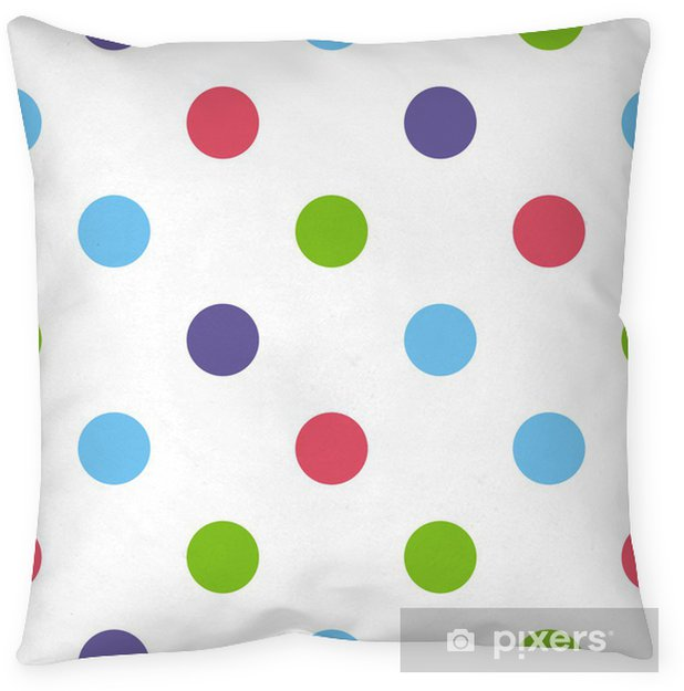 Seamless vector pattern or background big colorful polka dots Pillow Cover - Themes