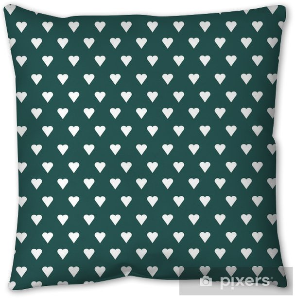 Seamless vector pattern with white hearts on pastel background Pillow Cover - Graphic Resources