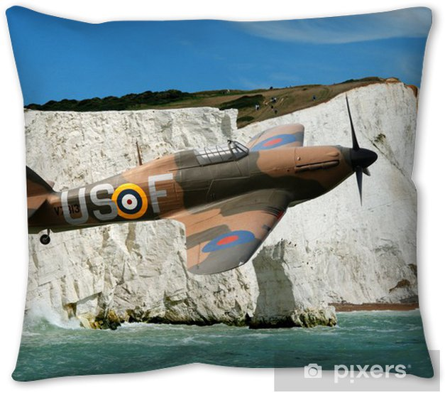 Spitfire Over The White Cliffs Of Dover Pillow Cover Pixers We Live To Change