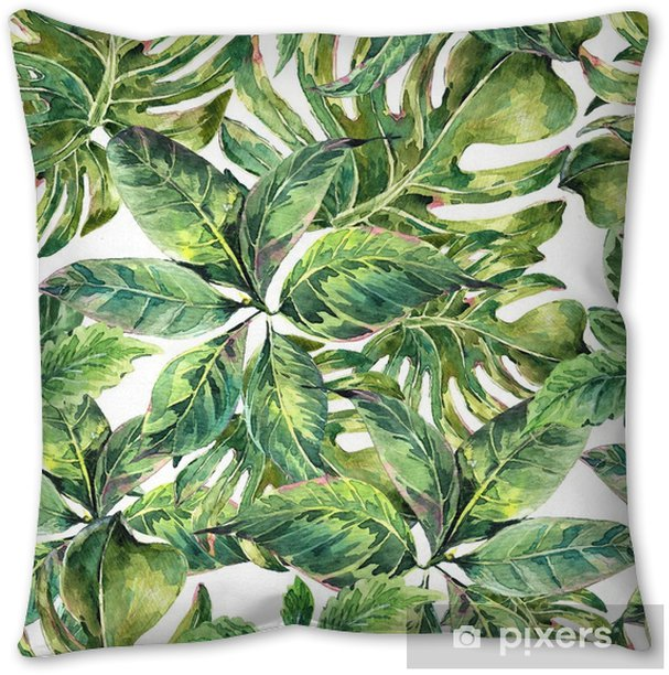 Summer exotic watercolor seamless pattern Pillow Cover - Hobbies and Leisure