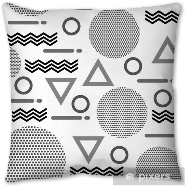 texture of geometric shapes figures pattern abstract Pillow Cover - Graphic Resources