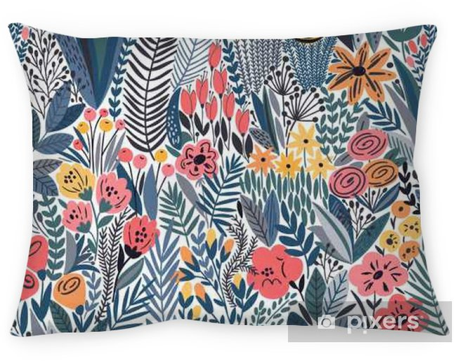 Tropical seamless floral pattern Pillow Cover - Plants and Flowers