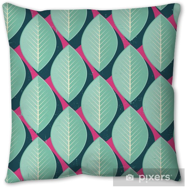 Vector Colorful abstract retro seamless geometric pattern Pillow Cover - Flowers and plants