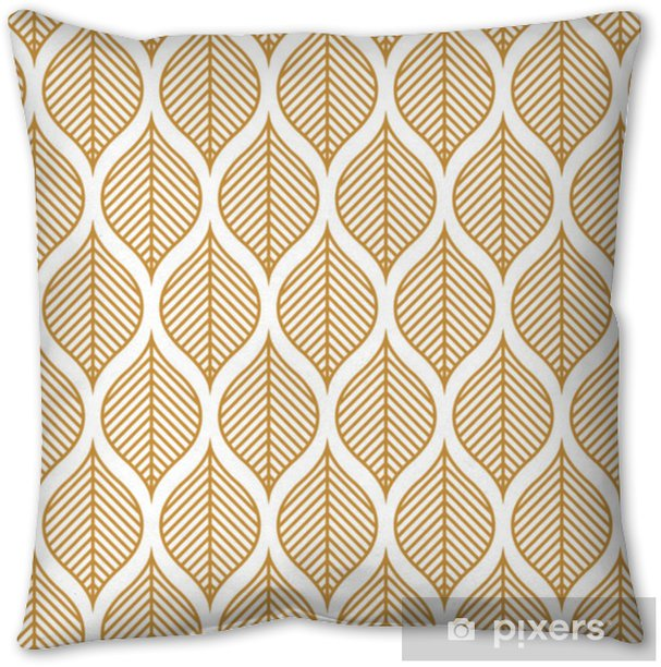 Vector Geometric Leaf Seamless Pattern. Abstract leaves texture. Pillow Cover - Graphic Resources