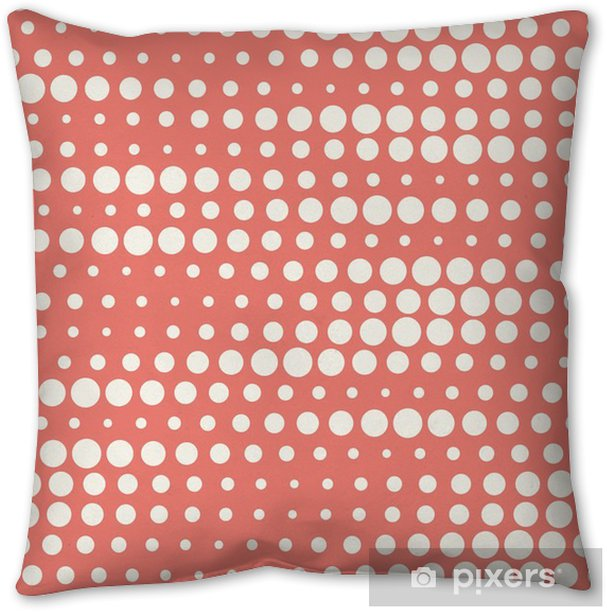 Vector illustration of seamless halftone background in red pastel colors Pillow Cover - Graphic Resources