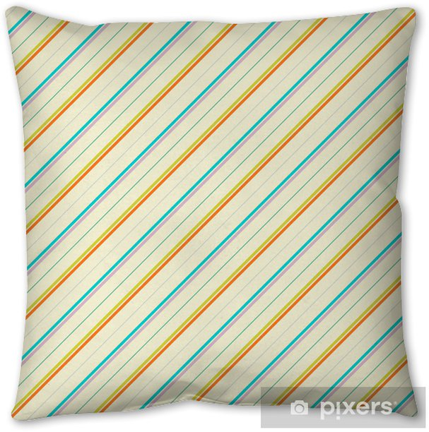 Vintage diagonal stripe vector seamless pattern (tiling) Pillow Cover - Art and Creation