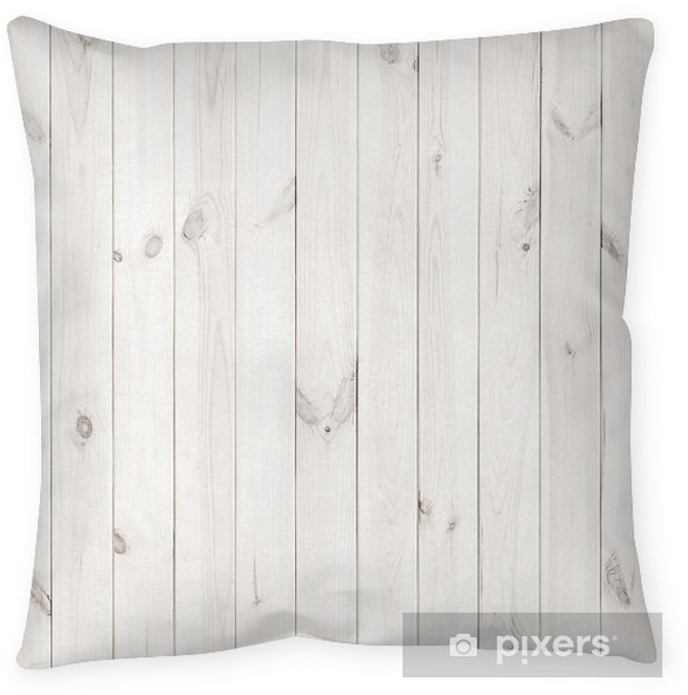 White Wood Texture Background Wooden Table Top View Pillow Cover