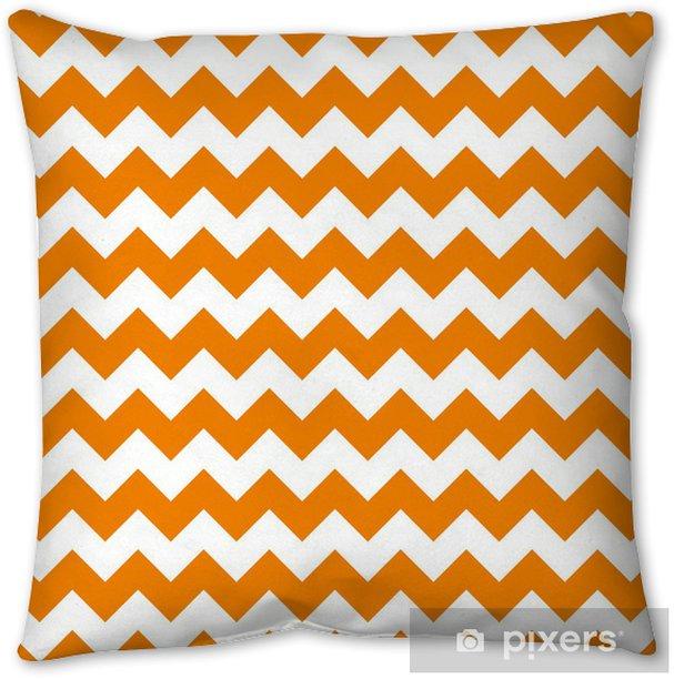 zig zag chevron pattern background vintage vector illustration Pillow Cover - Celebrations