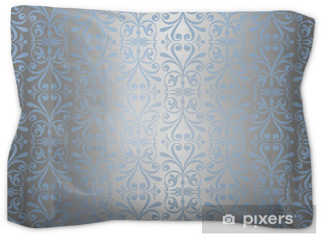 blue silver new years background wallpaper pillow sham