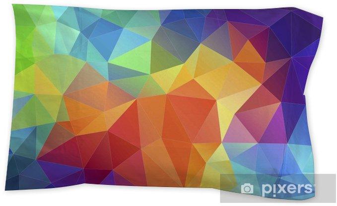 Flat Triangle Multicolor Geometric Triangle Wallpaper Pillow Sham