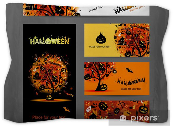 Invitation Cards For Halloween Party For Your Design Pillow Sham