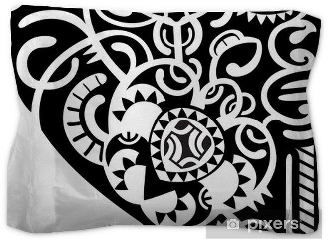f345c5ea35591 Maori tattoo leg design Pillow Sham • Pixers® • We live to change