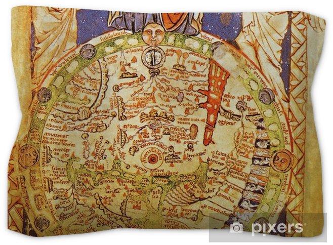 Jerusalem Center Of The World Map.Medieval Map With Jerusalem As Center Of The World Pillow Sham