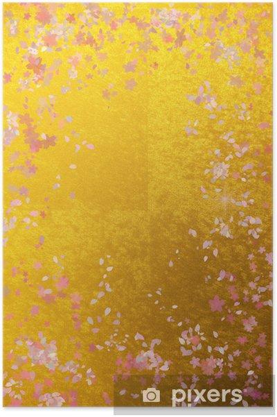 e51db547 Plakat 金 屏風 と 桜 の イ メ ー ジ - Sesonger