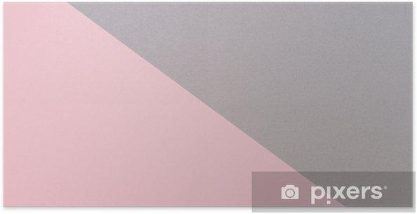 ecbcc485 Plakat Abstrakt geometrisk form grå og rosa farge papir banner bakgrunn -  Grafiske Ressurser