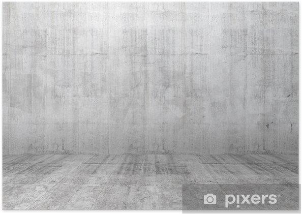 Unike Plakat Abstrakt hvitt interiør i tomt rom med betongvegg og flom ZO-33