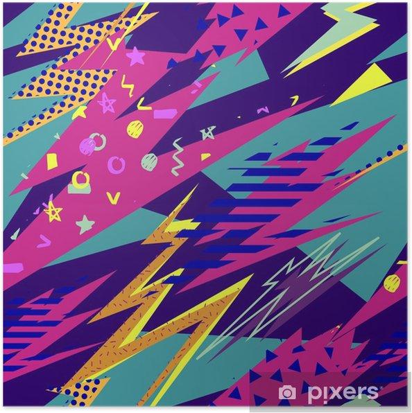 f4022e4d Plakat Abstrakt sømløs mønster for jenter, gutter, klær. kreativ bakgrunn  med prikker, geometriske figurer, striper påskrifter. morsomt tapeter for  tekstil ...