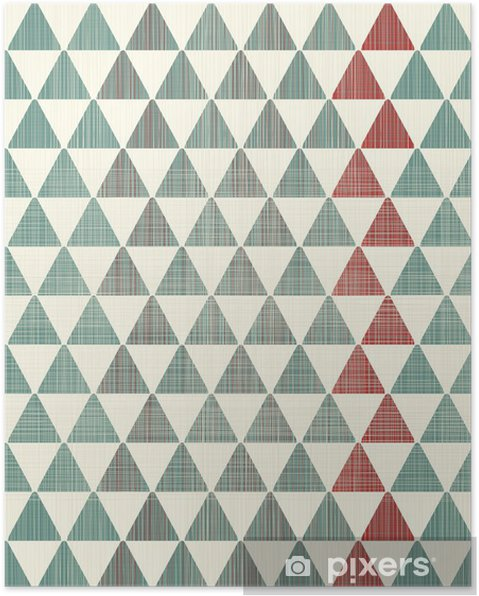 Plakat Abstrakte teksturer trekanter sømløs mønster - Styles