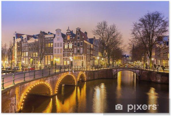Amsterdam kanaler Plakat -