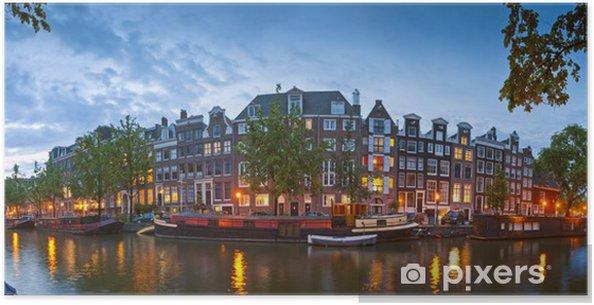Amsterdam rolige kanal scene, Holland Plakat - Europæiske Byer