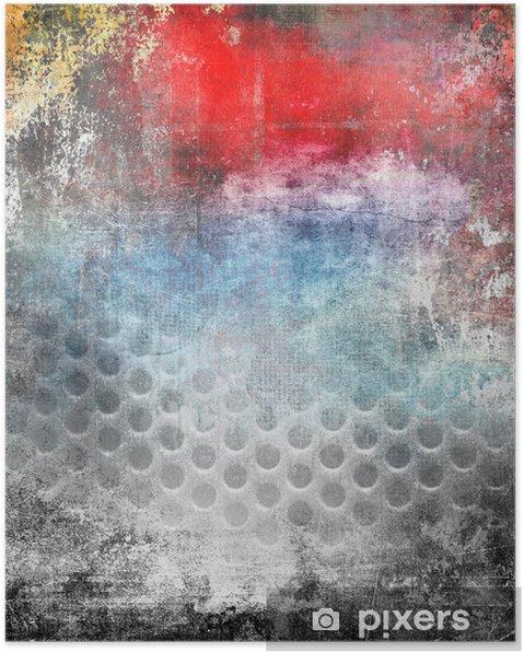f3987eb6 Plakat Art grunge bakgrunn, fargerik illustrasjon • Pixers® - Vi ...